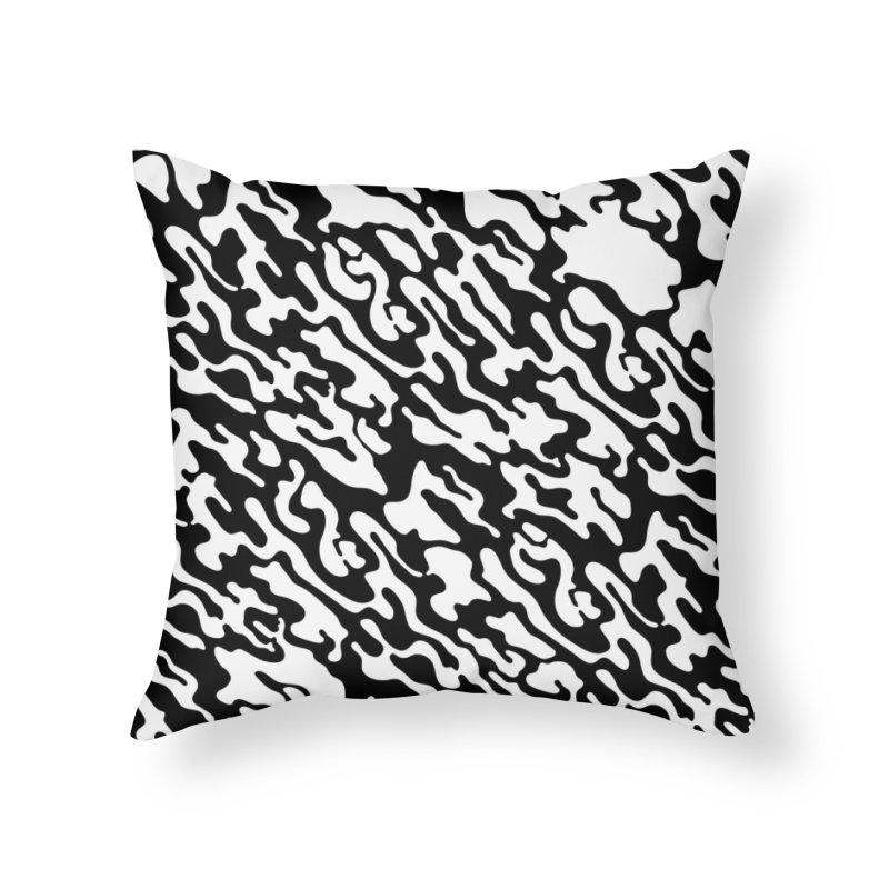 Dream Camo Throw Pillow Home Throw Pillow by Jean Goode's Artist Shop