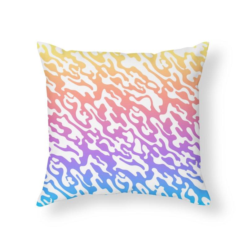 Dream Camo Bright Throw Pillow Home Throw Pillow by Jean Goode's Artist Shop