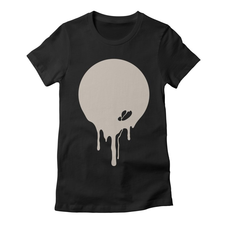 Moon Drip Women's Fitted T-Shirt by Jean Goode's Artist Shop