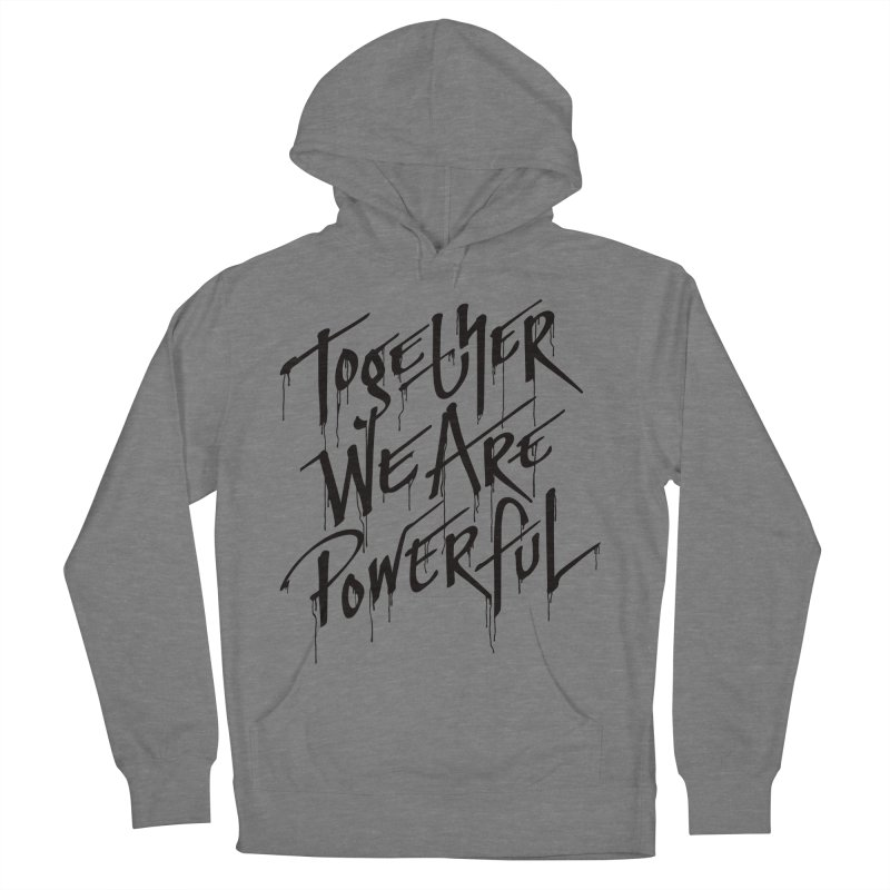 Together Men's French Terry Pullover Hoody by Jean Goode's Artist Shop