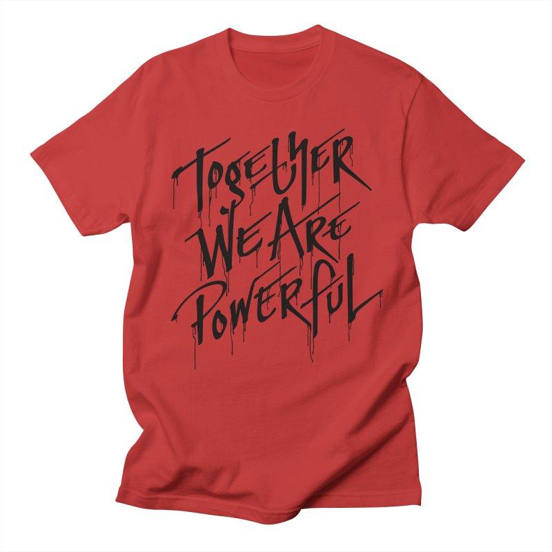 Together in Men's Regular T-Shirt Red by Jean Goode's Artist Shop