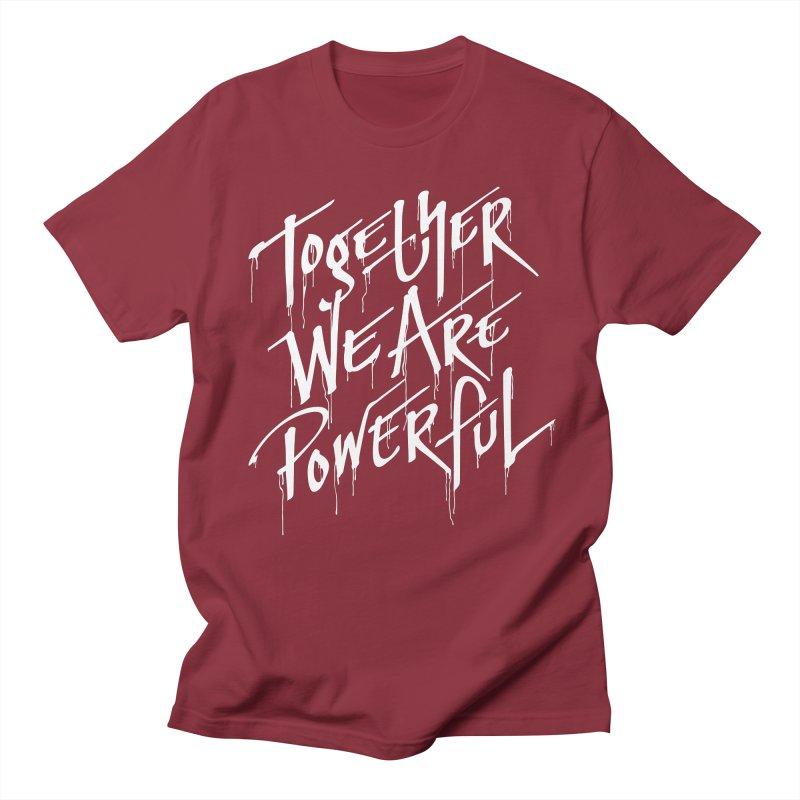 Together in Men's Regular T-Shirt Scarlet Red by Jean Goode's Artist Shop