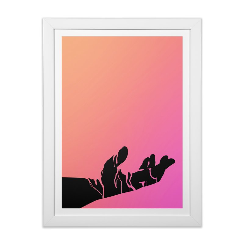 This Messy Wound Home Framed Fine Art Print by Jean Goode's Artist Shop