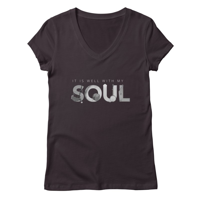 It's well with my soul Women's V-Neck by jeannecosta's Shop