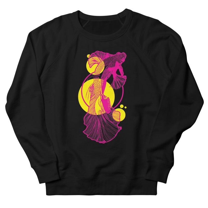 Hyper-Beta Men's French Terry Sweatshirt by Jeannie Hart's Thread Shop