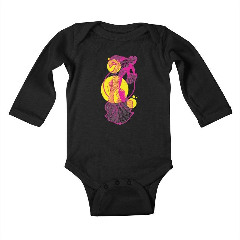 Hyper-Beta Kids Baby Longsleeve Bodysuit by Jeannie Hart's Thread Shop