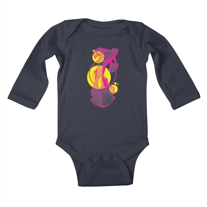 Hyper-Beta Kids Baby Longsleeve Bodysuit by Jeannie Hart's Thread Shop