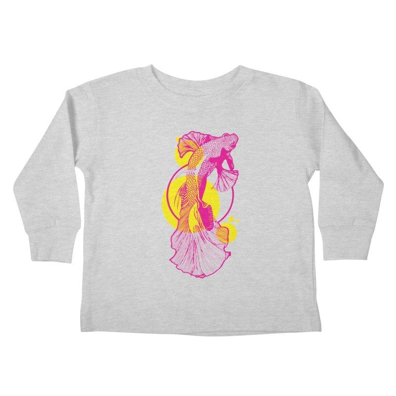 Hyper-Beta Kids Toddler Longsleeve T-Shirt by Jeannie Hart's Thread Shop