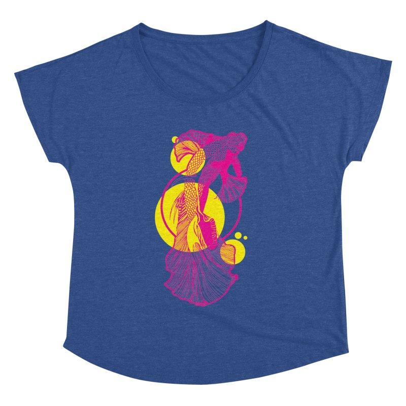 Hyper-Beta Women's Dolman Scoop Neck by Jeannie Hart's Thread Shop