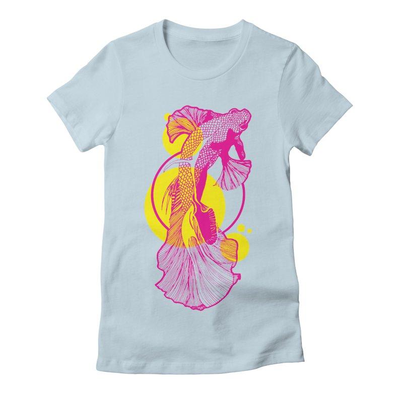 Hyper-Beta Women's Fitted T-Shirt by Jeannie Hart's Thread Shop