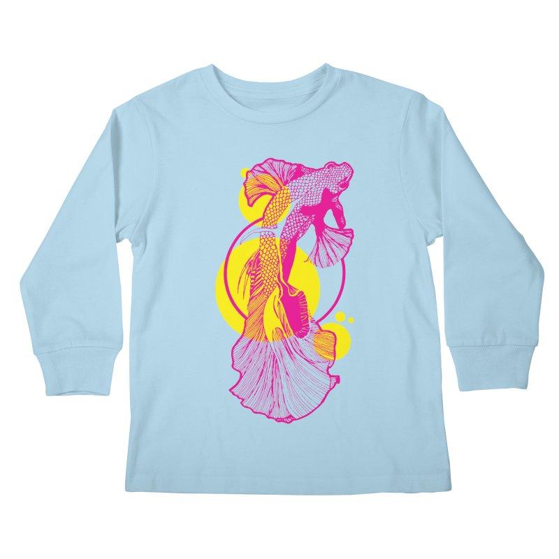 Hyper-Beta Kids Longsleeve T-Shirt by Jeannie Hart's Thread Shop