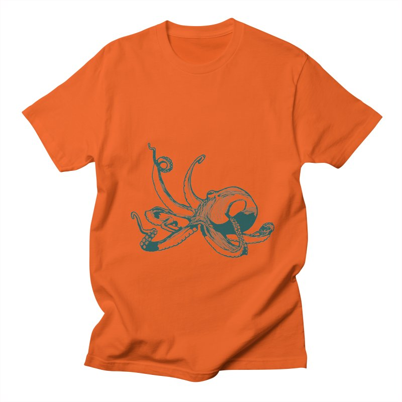 Angry Octi Men's T-Shirt by Jeannie Hart's Thread Shop