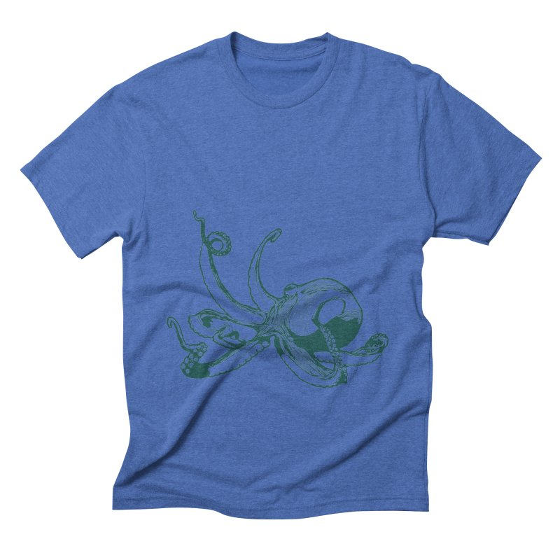 Angry Octi Men's Triblend T-Shirt by Jeannie Hart's Thread Shop