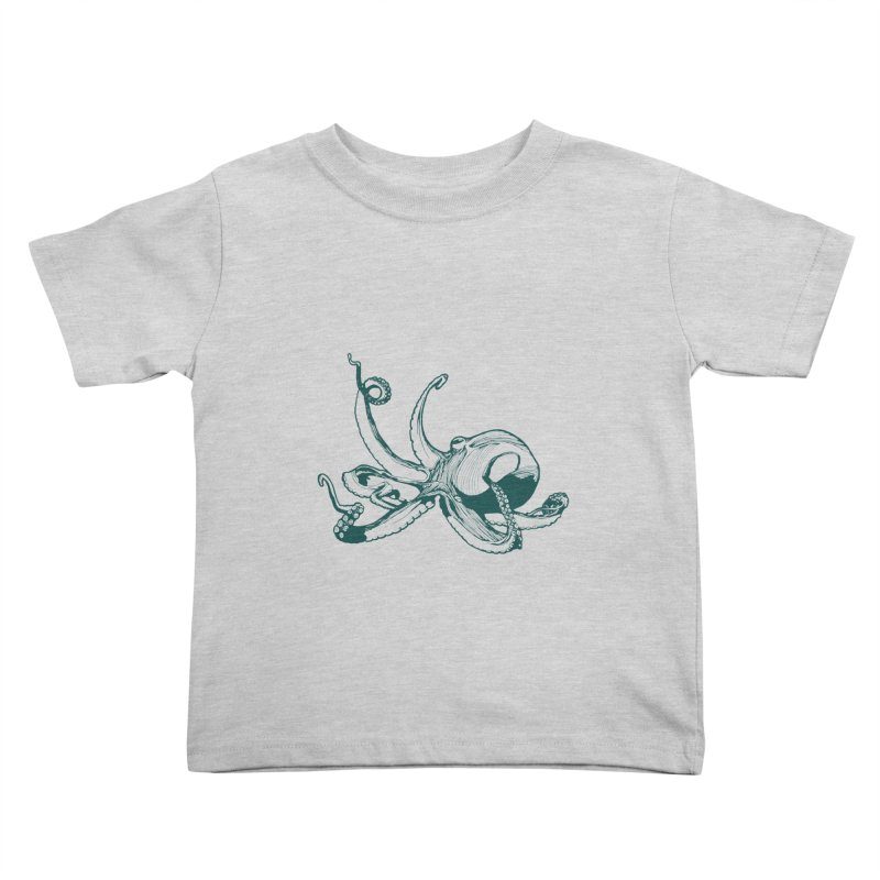 Angry Octi Kids Toddler T-Shirt by Jeannie Hart's Thread Shop