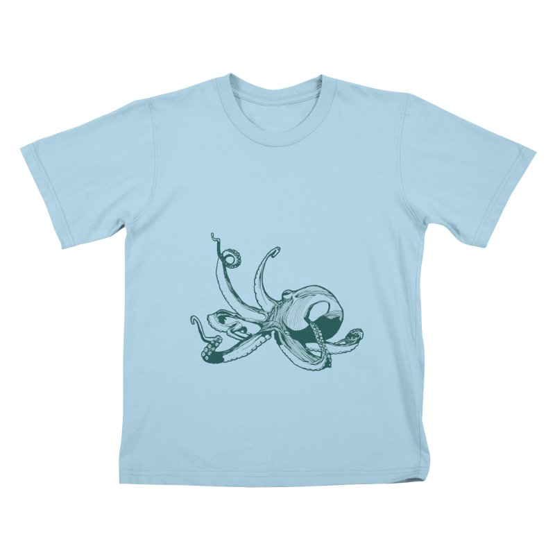 Angry Octi Kids T-Shirt by Jeannie Hart's Thread Shop
