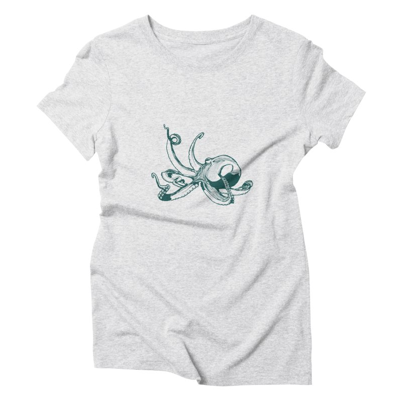 Angry Octi Women's T-Shirt by Jeannie Hart's Thread Shop