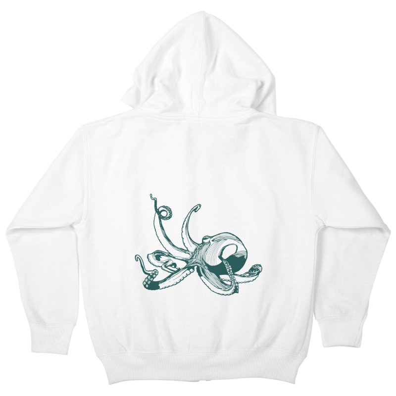 Angry Octi Kids Zip-Up Hoody by Jeannie Hart's Thread Shop