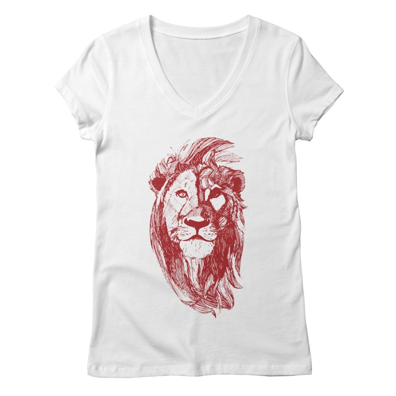 King Women's V-Neck by Jeannie Hart's Thread Shop