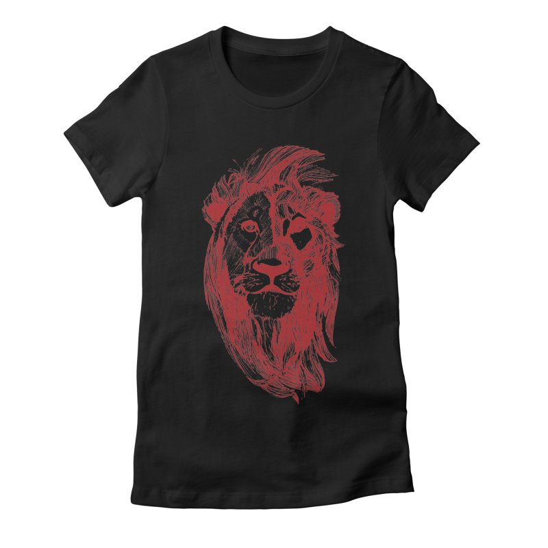 King Women's Fitted T-Shirt by Jeannie Hart's Thread Shop