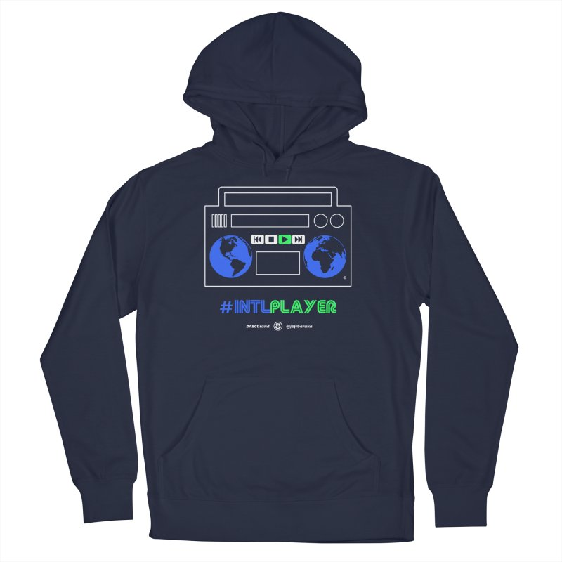 INTLPLAYER Boombox Women's French Terry Pullover Hoody by Ankh, Shield & Circle