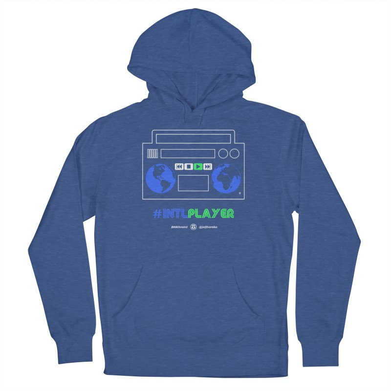 INTLPLAYER Boombox Men's French Terry Pullover Hoody by Ankh, Shield & Circle