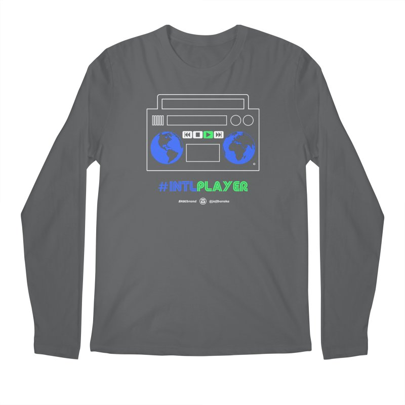 INTLPLAYER Boombox Men's Regular Longsleeve T-Shirt by Ankh, Shield & Circle