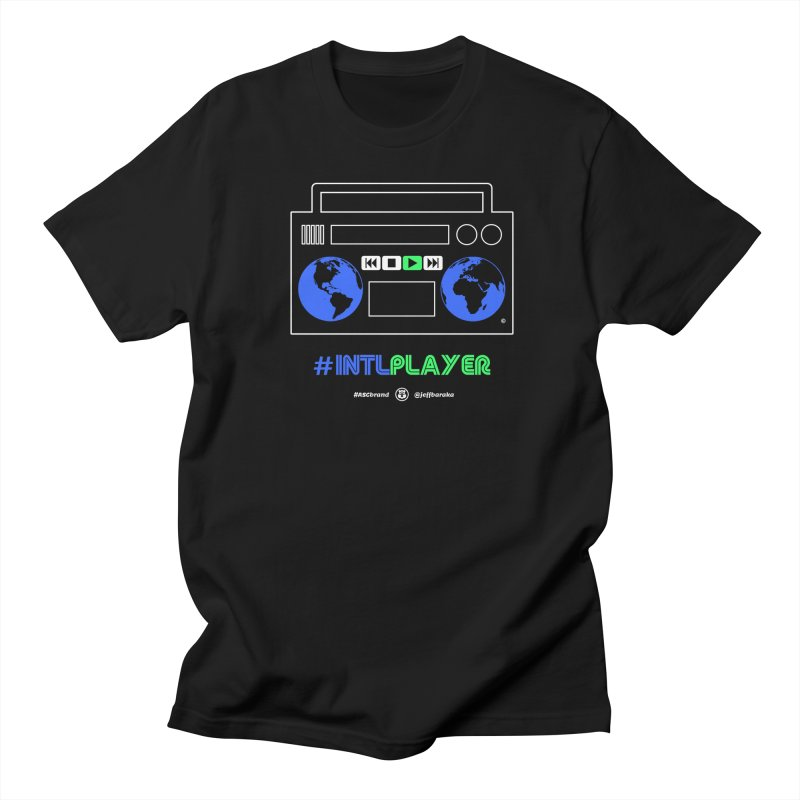 INTLPLAYER Boombox in Men's Regular T-Shirt Black by Ankh, Shield & Circle
