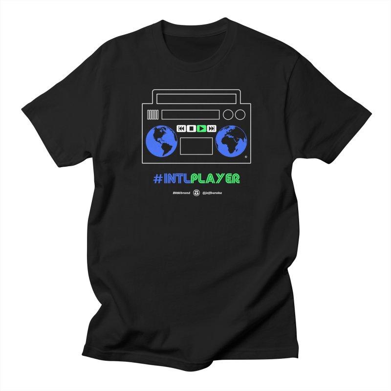 INTLPLAYER Boombox Men's T-Shirt by Ankh, Shield & Circle
