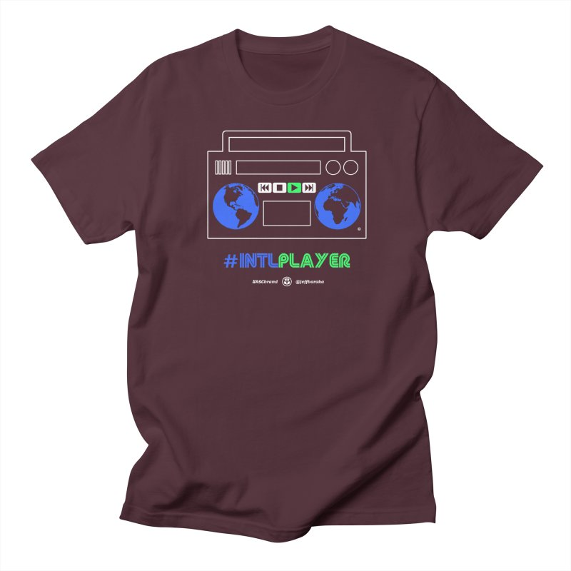 INTLPLAYER Boombox Men's T-Shirt by Ankh, Shield & Circle