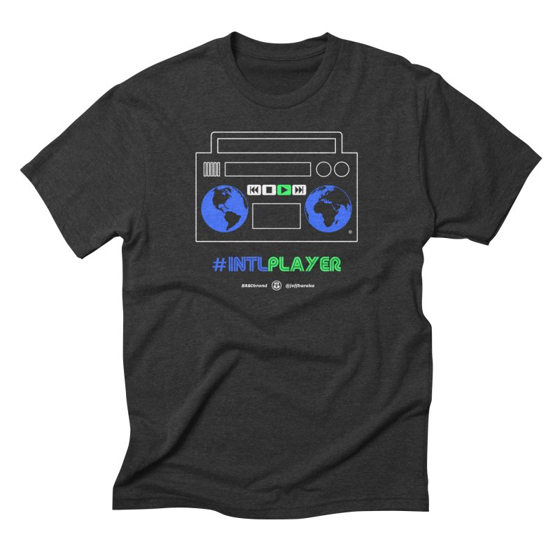 INTLPLAYER Boombox Men's Triblend T-Shirt by Ankh, Shield & Circle