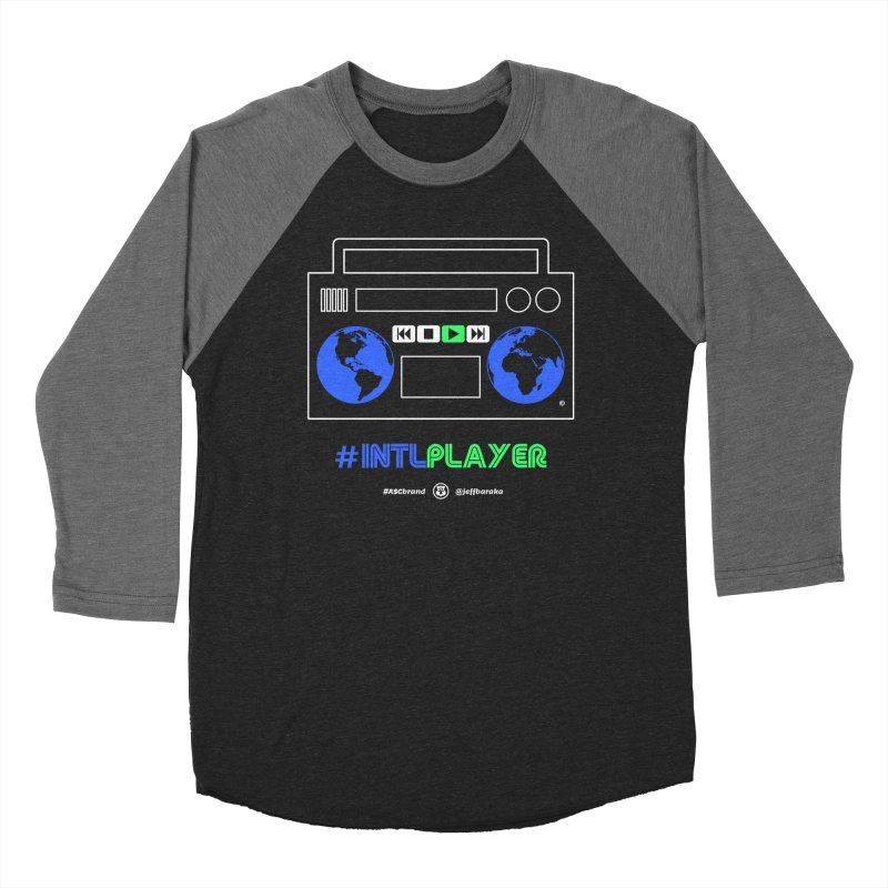 INTLPLAYER Boombox Men's Baseball Triblend Longsleeve T-Shirt by Ankh, Shield & Circle