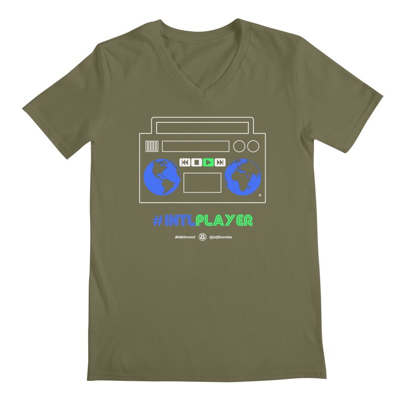 INTLPLAYER Boombox Men's Regular V-Neck by Ankh, Shield & Circle