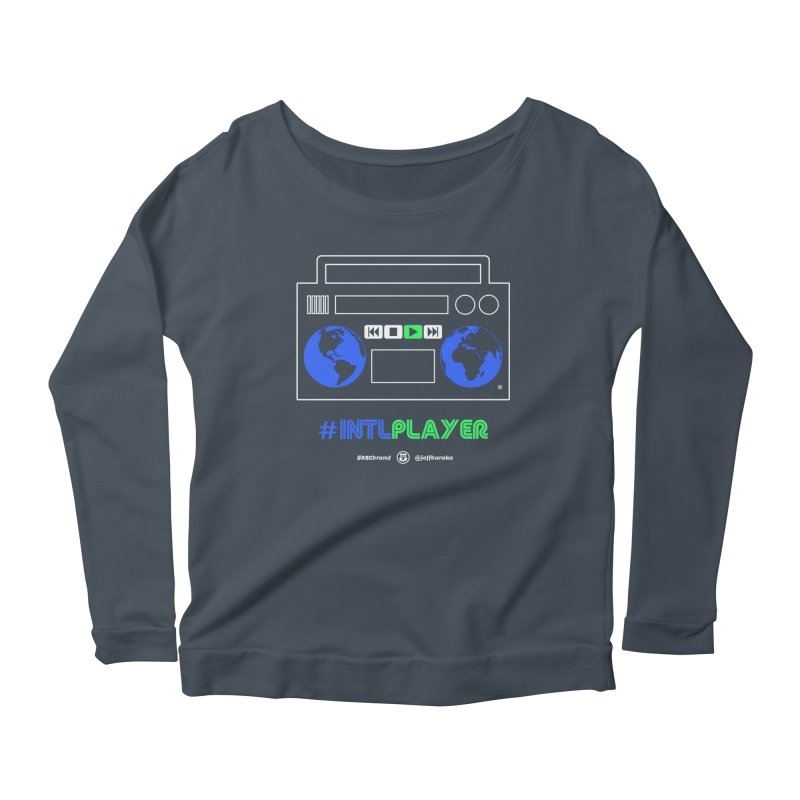INTLPLAYER Boombox Women's Scoop Neck Longsleeve T-Shirt by Ankh, Shield & Circle