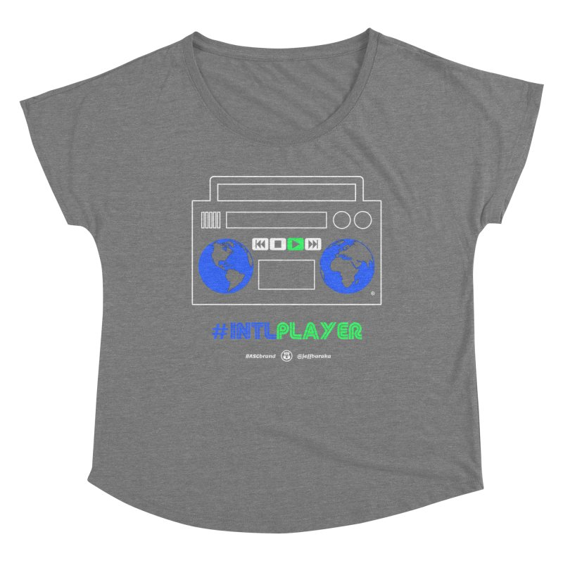 INTLPLAYER Boombox Women's Scoop Neck by Ankh, Shield & Circle