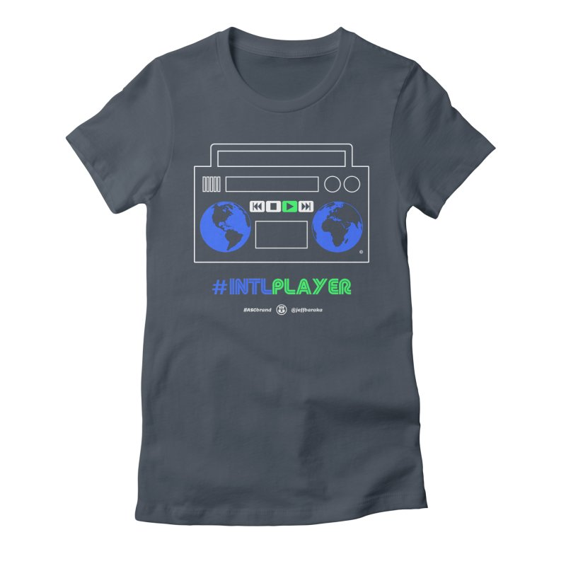 INTLPLAYER Boombox Women's T-Shirt by Ankh, Shield & Circle