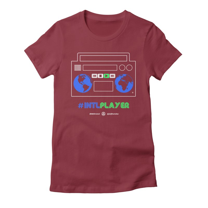 INTLPLAYER Boombox Women's Fitted T-Shirt by Ankh, Shield & Circle