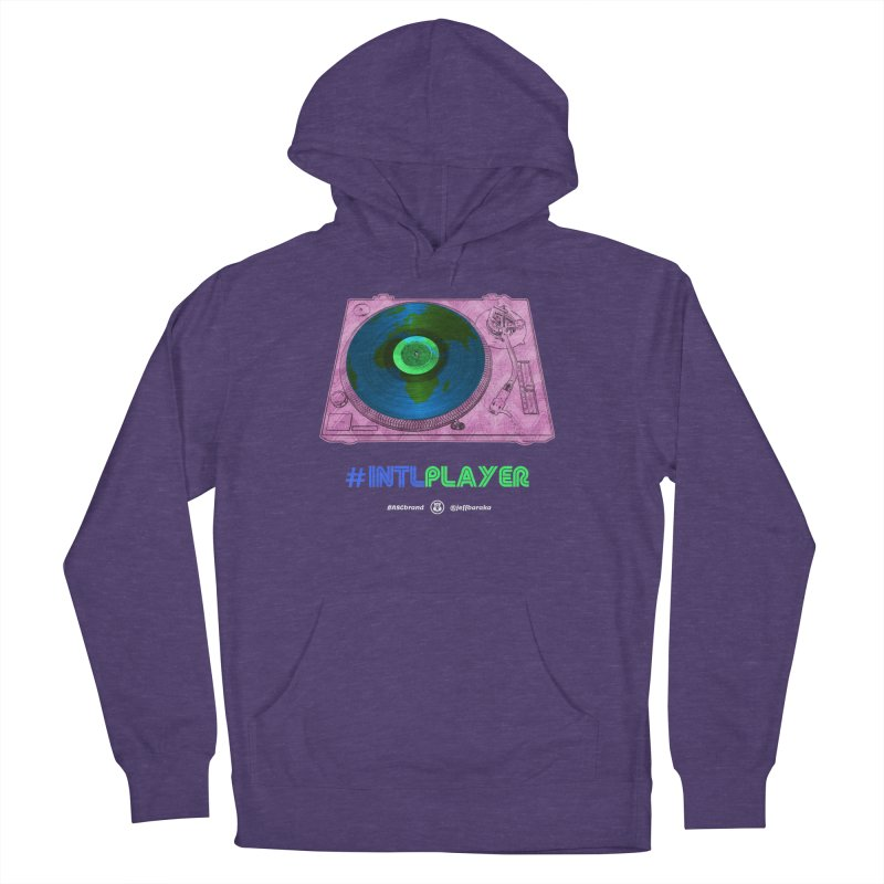 INTLPLAYER A-side Women's French Terry Pullover Hoody by Ankh, Shield & Circle