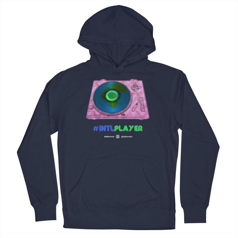 INTLPLAYER A-side Men's French Terry Pullover Hoody by Ankh, Shield & Circle