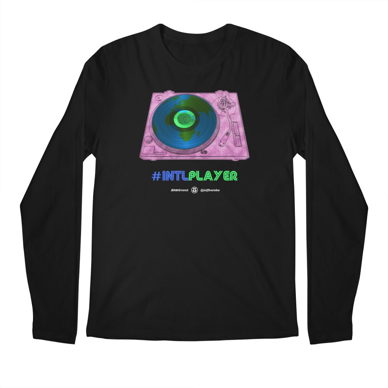 INTLPLAYER A-side Men's Regular Longsleeve T-Shirt by Ankh, Shield & Circle