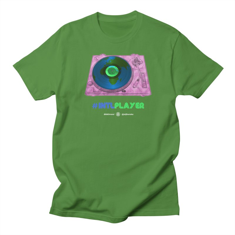 INTLPLAYER A-side Men's Regular T-Shirt by Ankh, Shield & Circle