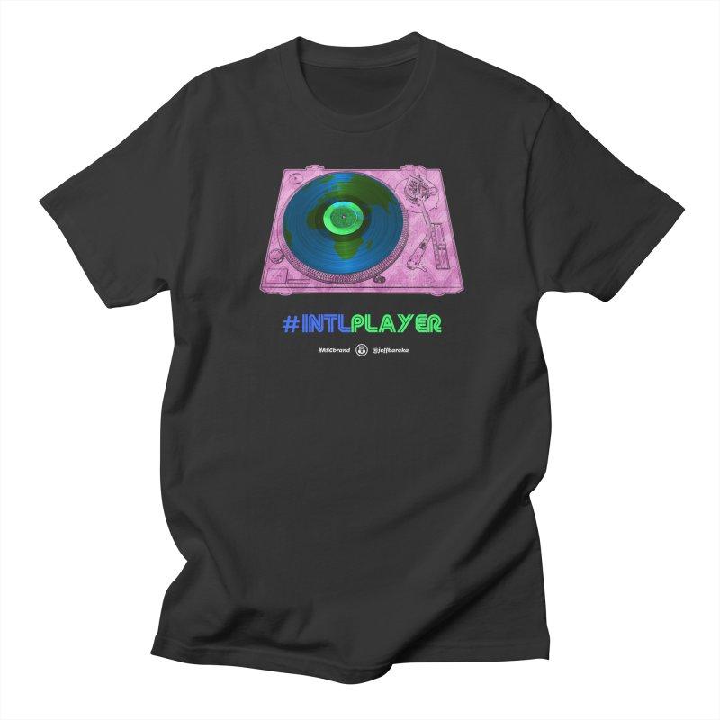 INTLPLAYER A-side Men's Regular T-Shirt by Ankh, Shield & Circle