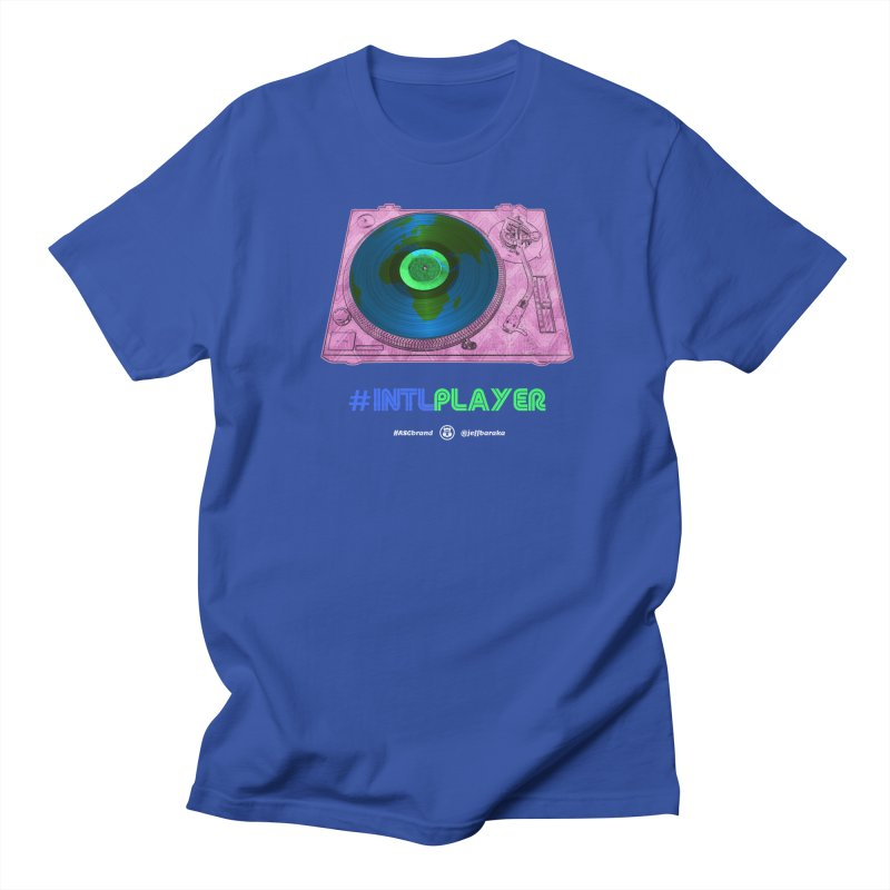 INTLPLAYER A-side Men's T-Shirt by Ankh, Shield & Circle