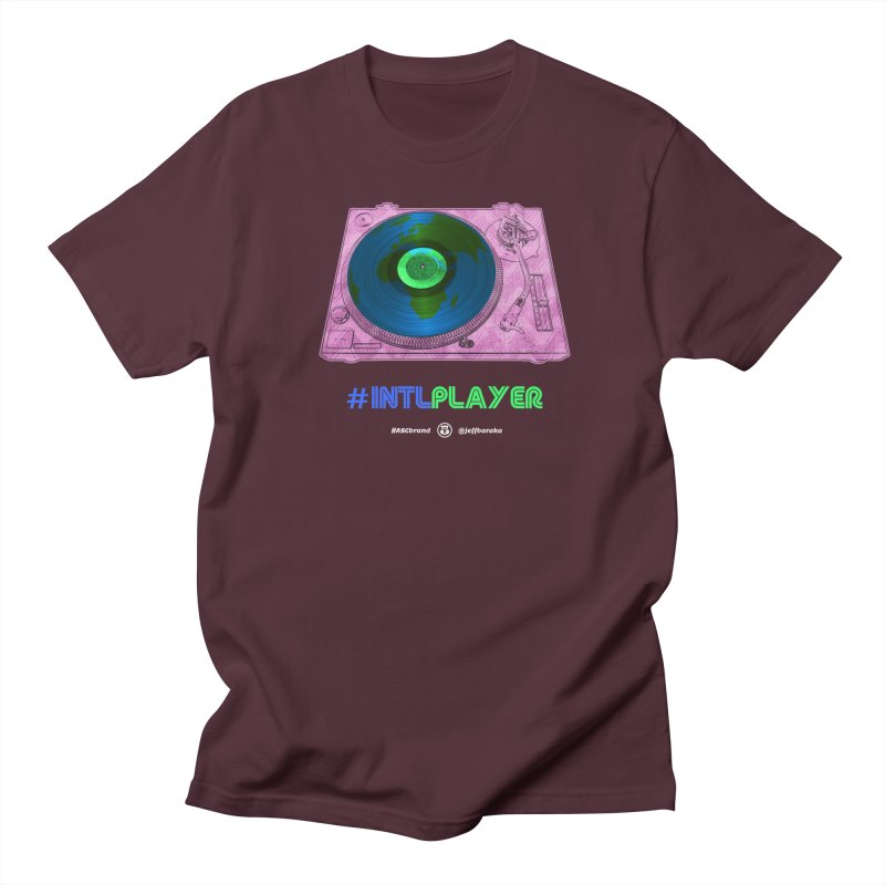 INTLPLAYER A-side Women's Regular Unisex T-Shirt by Ankh, Shield & Circle