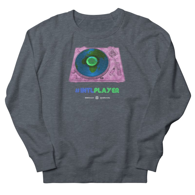 INTLPLAYER A-side Women's French Terry Sweatshirt by Ankh, Shield & Circle
