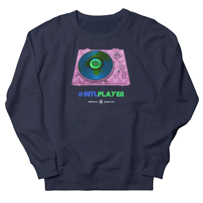 INTLPLAYER A-side Men's French Terry Sweatshirt by Ankh, Shield & Circle