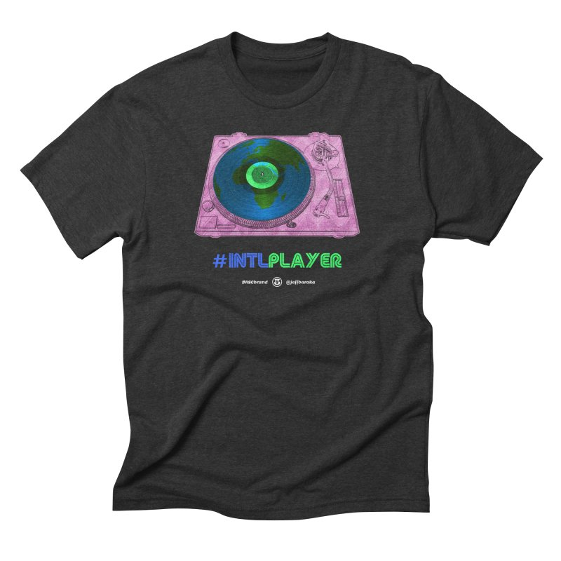 INTLPLAYER A-side Men's Triblend T-Shirt by Ankh, Shield & Circle