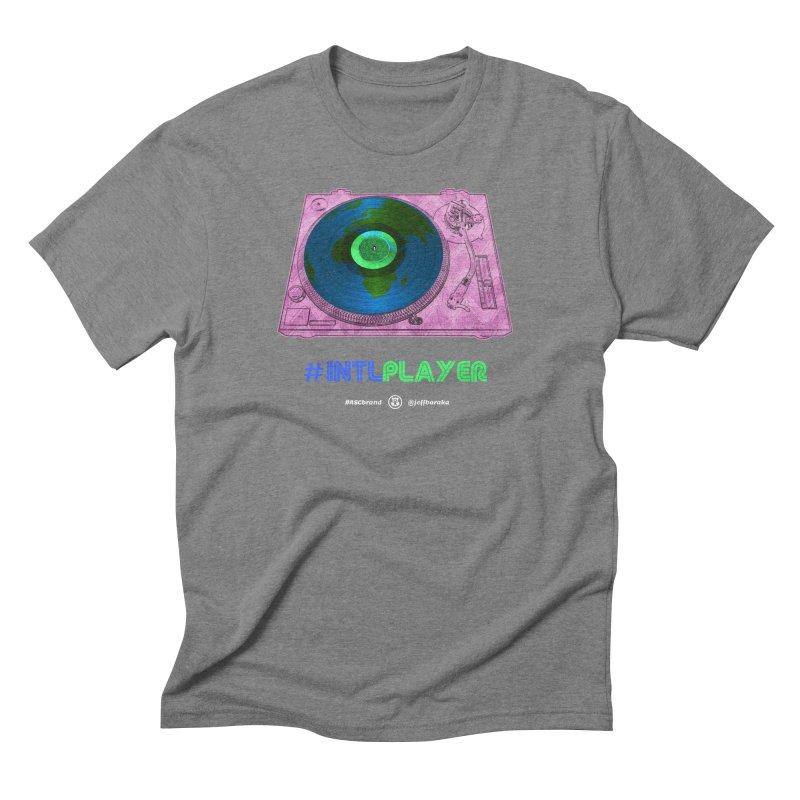 INTLPLAYER A-side Men's T-Shirt by Ankh, Shield & Circle