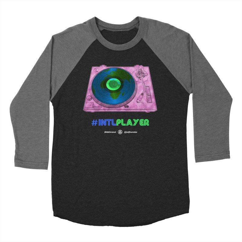 INTLPLAYER A-side Women's Baseball Triblend Longsleeve T-Shirt by Ankh, Shield & Circle