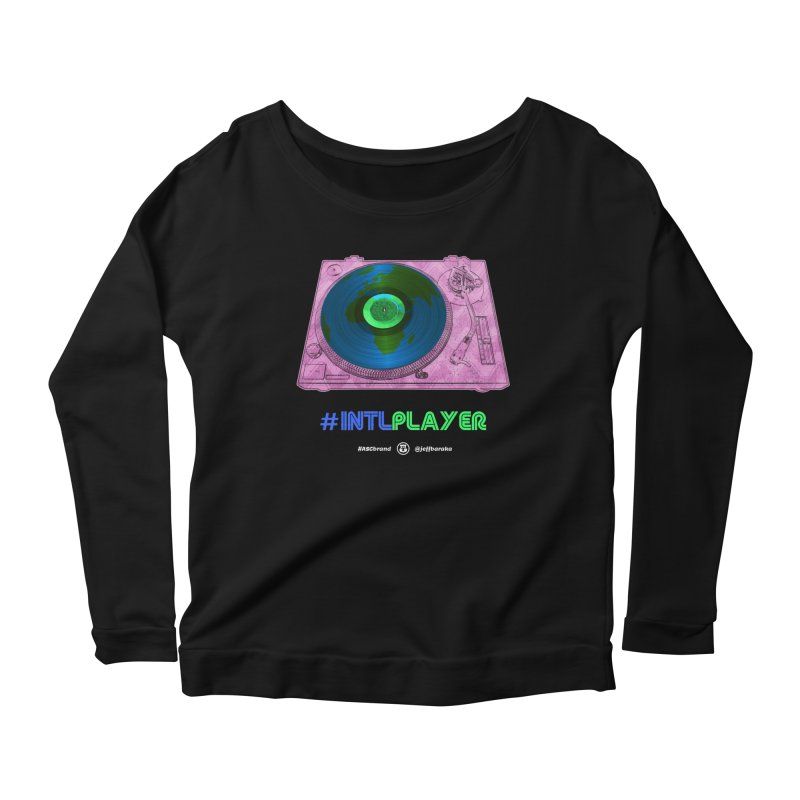INTLPLAYER A-side Women's Scoop Neck Longsleeve T-Shirt by Ankh, Shield & Circle