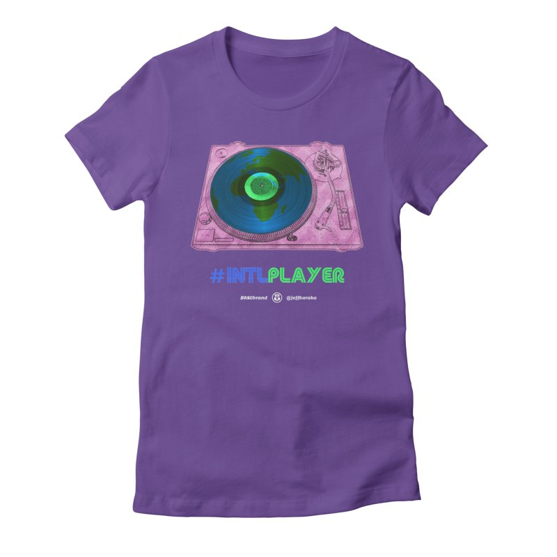 INTLPLAYER A-side Women's Fitted T-Shirt by Ankh, Shield & Circle